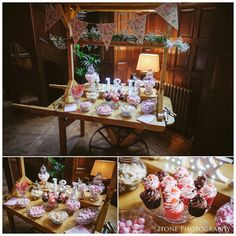 Jesmond Dene House wedding, sweets cake cart.  Wedding photography by www.2tonephotograpy.co.uk