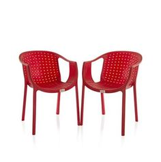 Buy Varmora Designer Chair Set of 2 (Ola Netted - Red) By HOMEGENIC by undefined, on Paytm, Price: Rs.4580?utm_medium=pintrest