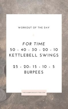 Workout of the Day: For time, kettlebell swings and burpees Kettlebell Training, Crossfit Kettlebell, Crossfit Workouts At Home, Kettlebell Swings, Crossfit Burpee, Kettlebell Benefits, Burpees, Hiit, Amrap Workout