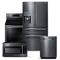 Frigidaire 4-Piece Stainless Steel Kitchen Package with F... https ...