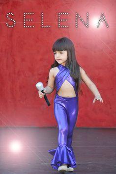 Girls Selena Quintanilla Halloween costume. Rock star