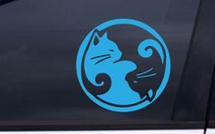 CAT YING YANG vinyl decal 5x5 Free Shipping cats by Iluvdecals