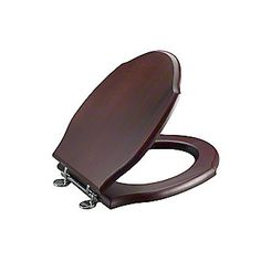 soft close wooden toilet seat hinges. Shown is the Hampstead Mahogany Toilet Seat with Chrome Hinges USA  Elongated wooden toilet seat 3 colors to choose Wooden