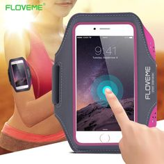 FLOVEME Waterproof Sport Arm Band Case For Samsung Galaxy S8 S7 S6 Edge S5 Universal For Below 5.5 Inch Moblie Phones Touch Gym