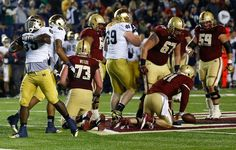 Prince Shembo celebrates a sack vs BC. SO hot.  Oh wait...he really is MINE