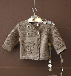 """Modèle brassière 100% laine bébé - Modèles tricot layette - Phildar  """"Parisienne"""" mignon pour petit garçon"""