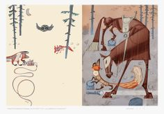 """Summary in English: Signed giclée prints of Svein Nyhus' book illustrations for """"What Does the Fox say? Children's Book Illustration, Digital Illustration, Dragon Design, Children's Picture Books, Art Prints For Sale, Colorful Drawings, Watercolor Background, Fox, Cartoon"""