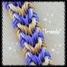 "This is a hooked design. No loom needed. *Zuzu* New ""Tremolo""Bracelet/ How To Tutorial"