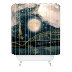Belle13 Paris Romance Shower Curtain | DENY Designs Home Accessories