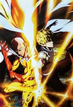 One punch Man - Saitama and Genos - The best team ever .The Handsome Boy and The suppository I'm Sorry Saitama you know i Love you All The same Saitama One Punch Man, One Punch Man Anime, One Punch Man 2, One Punch Man Poster, One Punch Man Memes, One Punch Man Season, Season 2, One Punch Man Funny, Otaku Anime