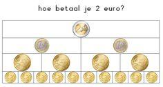 2 euro betalen Kindergarten Math Activities, Preschool Education, Preschool Lessons, Teaching Math, Second Grade Math, School Hacks, Math Classroom, Fractions, Kids Learning