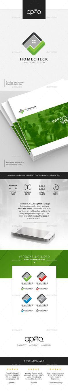 Home Check Logo Design Template Vector EPS, AI Illustrator
