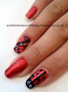 ladybird nails http://nuthinbutanailthing.blogspot.co.uk/