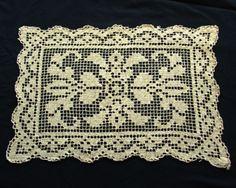 Vintage Filet Net Doily