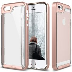 [Caseology]iPhone SE_Skyfall Series_Rose Gold #iPhoneSE #iphonecase #rose_gold #clear_case