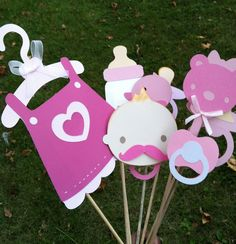 baby shower photo booth prop...don't forget the duck & owls.