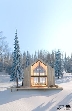 New chalets with Scandinavian inspirations in the suburbs of Quebec – Idées pour chalet - architecture house Architecture Design Concept, Architecture Résidentielle, Modern Exterior, Exterior Design, Exterior Siding, Exterior Signage, Style At Home, Modern House Design, Modern Interior Design