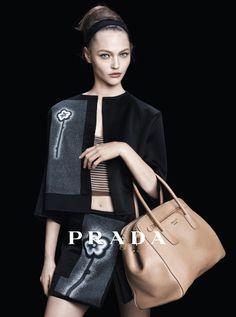 4caf18c25ec9 Sasha Pivovarova for Prada Spring 2013 campaign photographed by Steven  Meisel