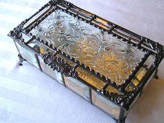 Stained Glass BoxJewelry BoxKeepsake by CreativeSpiritGlass