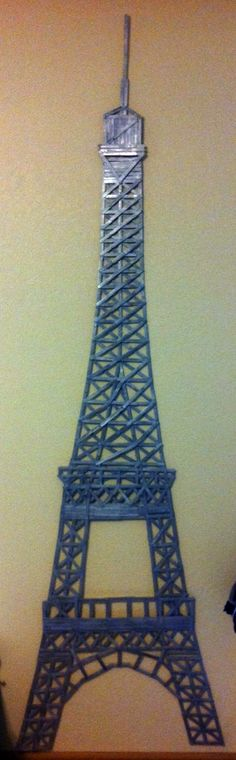 Popsicle Stick Eiffel Tower - Ohh yea!