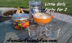 Little girls ice cream party for 2 with Orange Crush sparkling ice cream punch. Now that its warmer weather plan a play day for your kids & have fun.  Life is too short to do anything else.... ☺