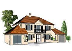 Modèle PC-31  Pavillon avec garage comprenant cuisine ouverte sur le séjour, salon, hall, salle de bains, WC, 1 chambre et lingerie au rez-de-chaussée. 3 chambres, 1 mezzanine, salle de bains et WC à l'étage.  Surface Habitable : 161,80m²