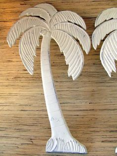 Palm Tree Wall Hanging Shabby Coastal Decor by PinkPelicanDesigns, $36.00