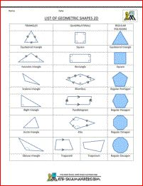 printable 2d shapes