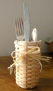 A Hand-Woven Life: Holiday Place Setting Basket by Juliana Deen