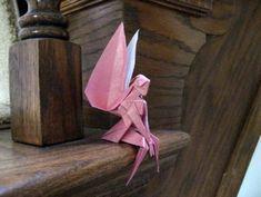 Beautiful origami – Fairy of the scheme Yoshihisa Kimura Origami Paper Folding, Origami And Kirigami, Paper Crafts Origami, Oragami, Origami Art, Origami Bookmark, Origami Flowers, Origami Design, Origami Videos
