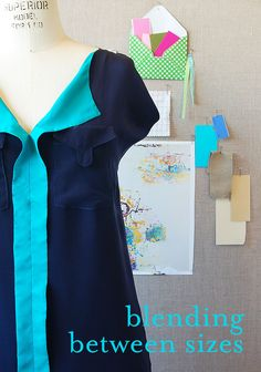 What do you do if your body is different sizes at different places? You blend between sizes on your sewing pattern! It's an easy adjustment that will help get you a great fit.