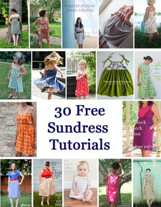30 Free DIY Sundress Tutorial - for babies to women! Mom here is our sundress pattern for the girls dresses