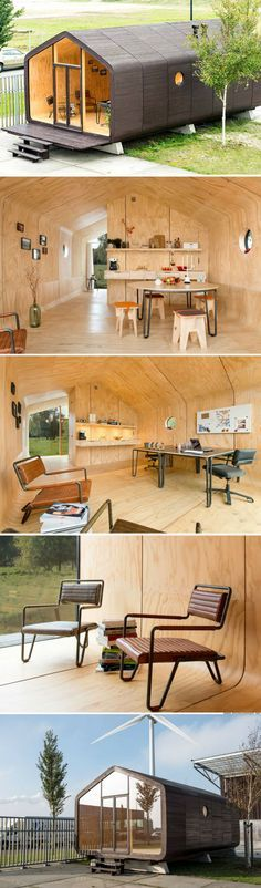 The Wikklehouse: a modular home made from recycled cardboard! Not available in the US but great while I rehab a fixer upper Casas Containers, Best Tiny House, Little Houses, Tiny Houses, Tiny House Living, Modular Homes, Future House, Modern Architecture, Interior And Exterior