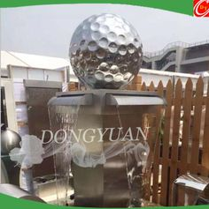 inox-steel-golf-ball-water-fountain,stainless steel golf balls suclpture mirror polished