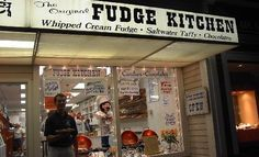 Will's fav place when he was little - stood at the window forever! Stone Harbor, NJ. Fudge Kitchen