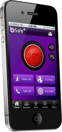 "bSafe - Android app with panic alarm and gps tracking.  It automatically notifies a friend and/or 911 WITH VIDEO AND GPS location by text and phone call that you are in trouble.  3 mo free offer at their website ($1.99 mo!!!).  It also has a ""follow me"" feature for a friend to watch you if you are walking home or a timer alarm if you don't return from jogging.  Pretty impressive technology for women or kids!"