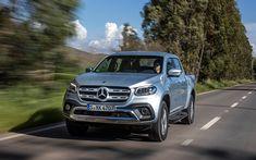 Download wallpapers Mercedes-Benz X-class, 2018, Pickup, 4k, silver X-class, new cars, German cars, Mercedes