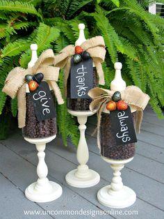Fall apothecary jars decoration #apothecary #jars