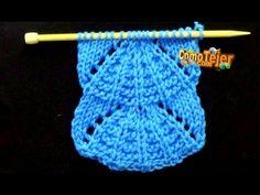 Cómo Tejer Punto PARASOL - Parasol Stitch - 2 agujas (392) - YouTube
