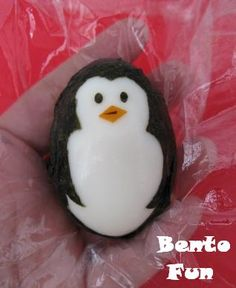 Penguin - this is painted on an egg, but great design for a rock - bjl