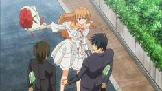 Golden time~ when your mad at your child hood friend for not marrying you, -like you guys promised to do when you were 5- go to their collage on his/her first day and smack them with a bouquet of roses!!! Way to go koko!!! …………