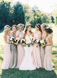 Kinda love all different shades and all sparkly #BridesmaidDresses
