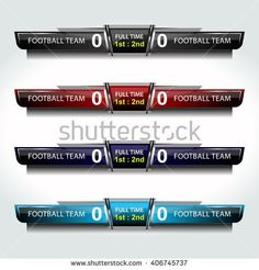 scoreboard icons sport for football and soccer, vector illustration - stock vector