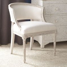 Gustavian Tub Chair – White for Piano room? Pair of something like this?