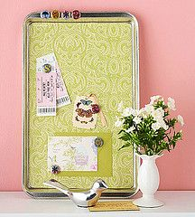 DIY Magnet Board. So cute!