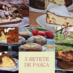 5 retete de pasca Pastry And Bakery, Tiramisu, Camembert Cheese, Cheesecake, Cooking, Ethnic Recipes, Food, Videos, Sweets