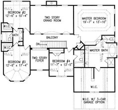 I would like bedroom 3 to be the master love the look of the room Walk In Closet Dimensions, Room Dimensions, Architectural Design House Plans, Architecture Design, Modern Zen House, Kitchen Cabinets Elevation, Huge Mansions, Brick Siding