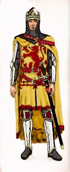 (from a sketch by Andrew Spratt, edited and coloured by Gee Dubz). Medieval Knight, Medieval Armor, King Robert, Picts, Stirling, Historical Romance, Armors, Chainmaille, Soldiers