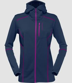 Norrona trollveggen warm / Zip Hoodie for women. Flexible and lightweight midlayer for women that can also be used next to skin. A mix of wool and polyester in the fabric gives this zippered sweater the best properties from the two worlds. Zip Hoodie, Two By Two, Warm, Hoodies, Fabric, Sweaters, Jackets, Women, Fashion