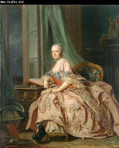 Alexandre Roslin, Princess Trubetskaya  1757  Mediumoil on canvas  Dimensions63.5 × 53 cm (25 × 20.9 in)  Current location  ]National Gallery of Victoria
